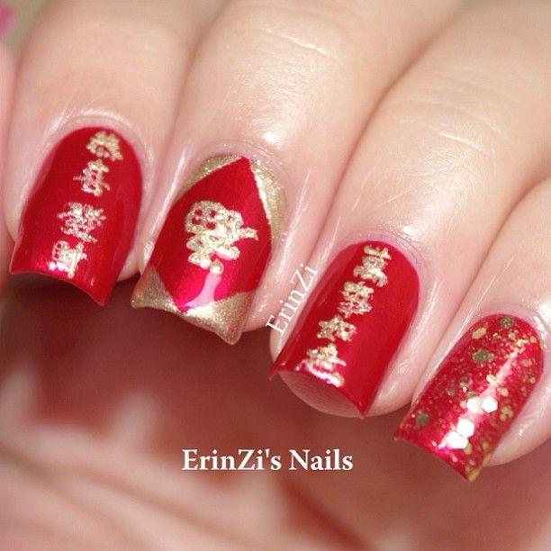 Chinese New Year Nail Nails Nailart Cny Nails Pinterest
