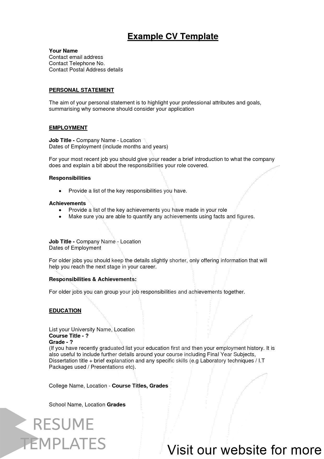Resume Template Free Resume Template Professional Resume