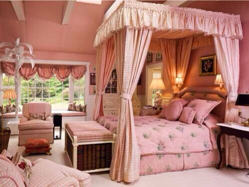 Canopy bedroom pink color decor | Bedrooms | Pinterest | Canopy ...