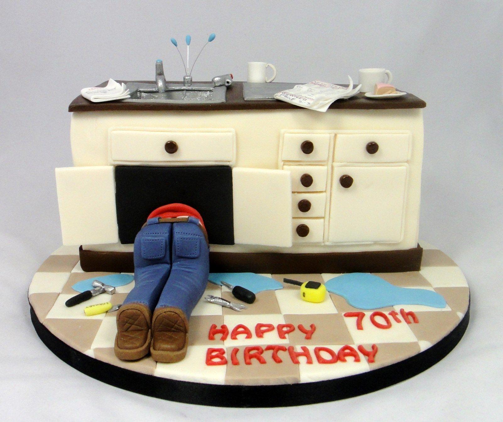 Plumber Novelty Cake Fancycakesbylinda