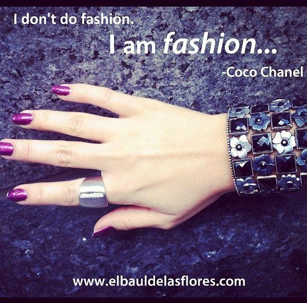 """#fashionquote : """"I don't do fashion, I'm fashion"""" Coco Chanel #fashionquote #inspiration #quote #quotes #fashionstatement"""