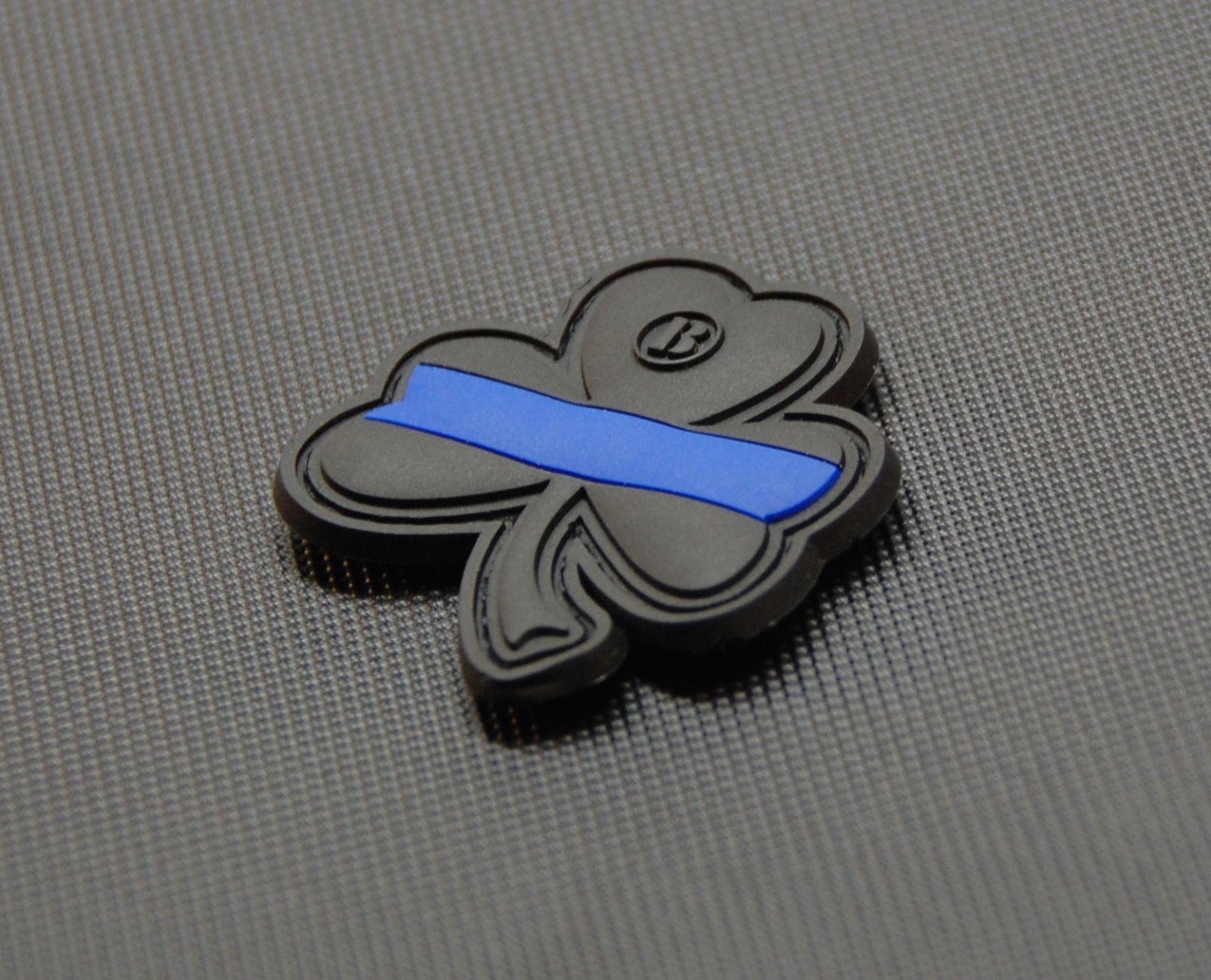 Thin Blue Line Clover PVC Patch Police Morale Patch Lucky Irish LEO ... 66b1a5db23fb
