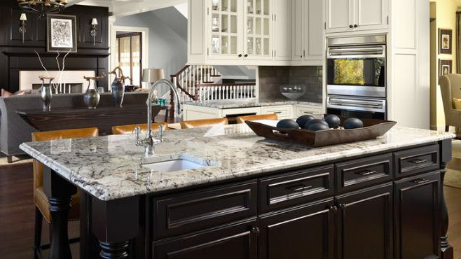 White Delicatus Stone Home Depot Kitchen Granite Countertop ...