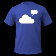 Eine Wolke mit einer Sprechblase.