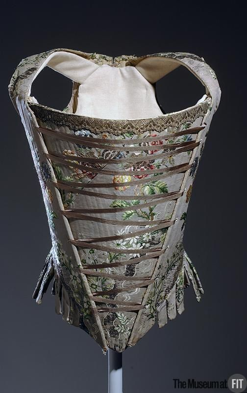 Corset  Medium: Multicolor silk brocade  Date: c.1750  Country: France