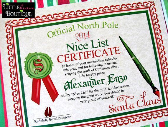 Printable santas nice list certificate diy letter santa claus printable santas nice list certificate diy letter santa claus stocking stuffer santa spiritdancerdesigns Choice Image