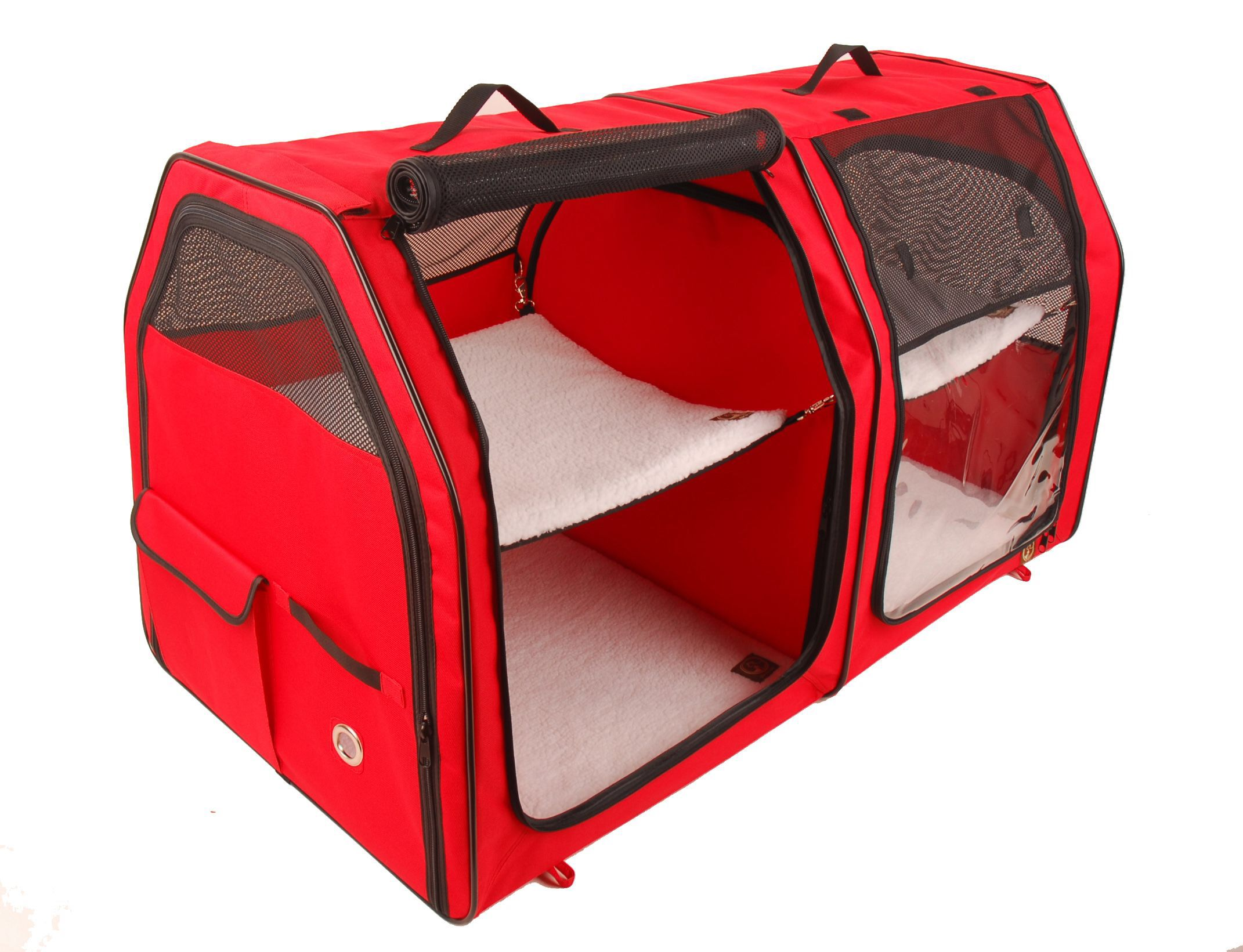 Oneforpets Show House Cat Carrier Portable Dog Kennels Cat Carrier Outdoor Cat House