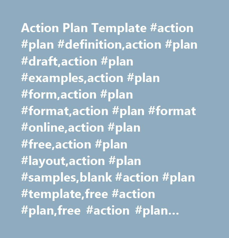 Action Plan Template Action Plan DefinitionAction Plan Draft