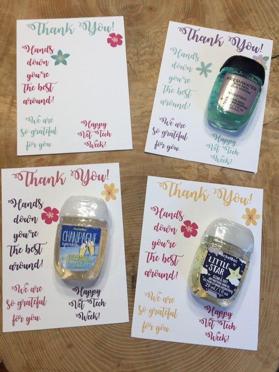 Vet Tech Week Appreciation Thank You Cards For Hand Sanitizer