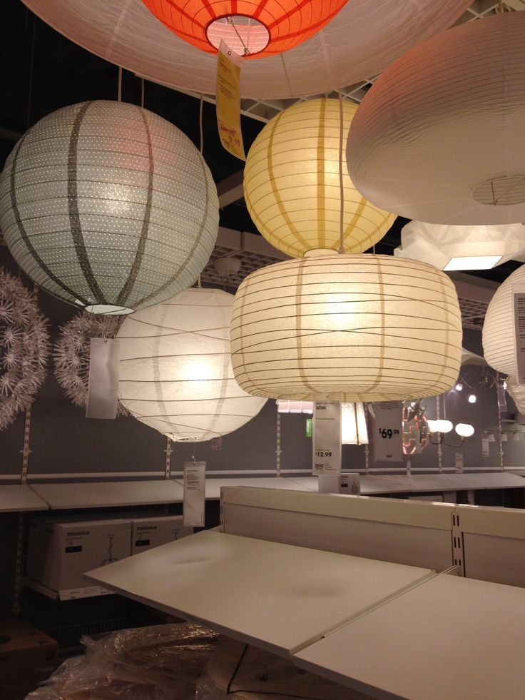 IKEA Paper Chandelier | Paper lantern pendant lighting at Ikea. | Guest Bedroom/Office | Pint ...