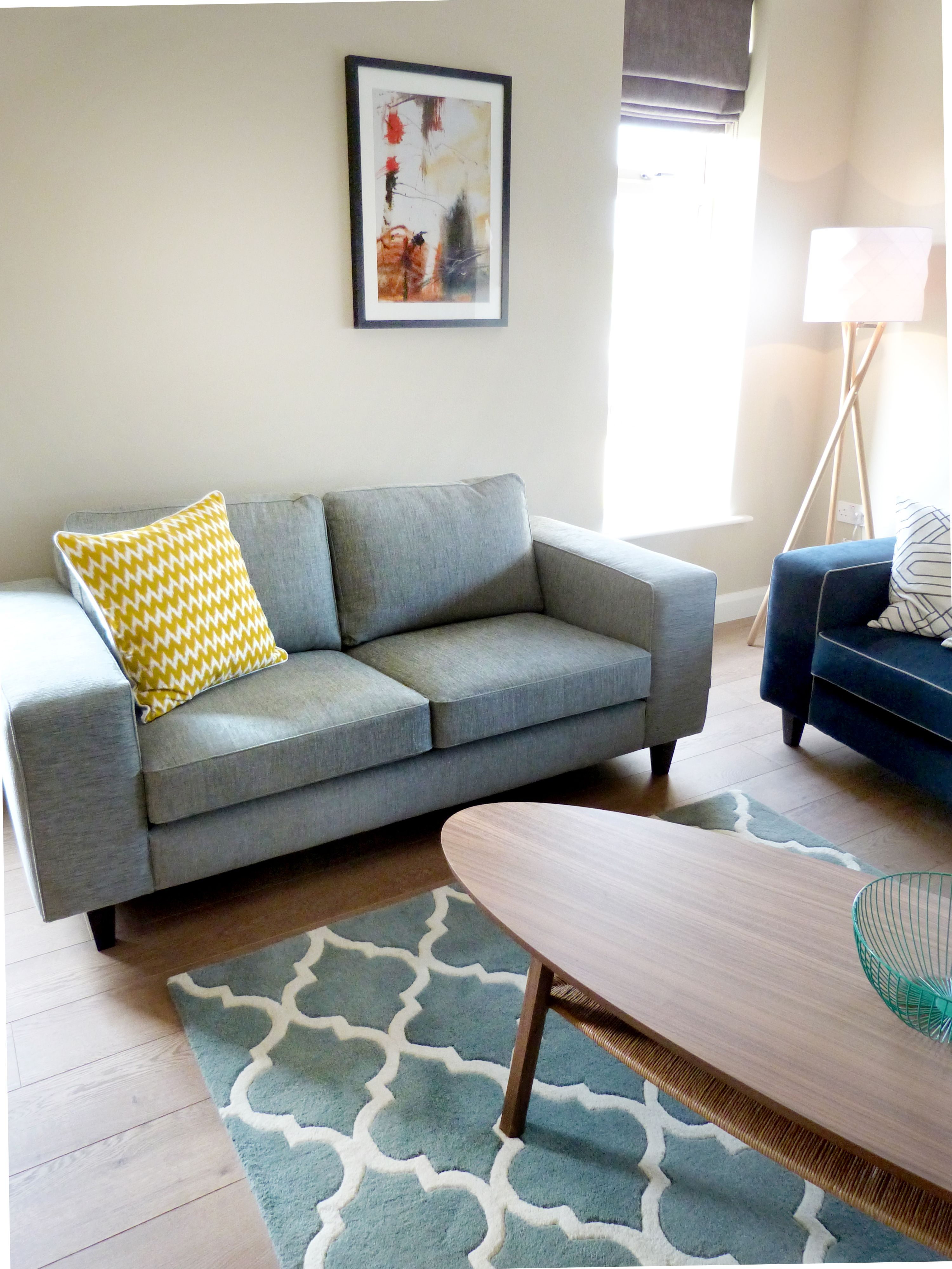 Residential Living Room Sofa Grey Ikea Stockhom Coffee Table