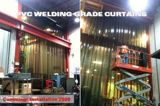 Welding Curtain Wall 12 Heavy Duty Pvc Strips Reduce Arc And