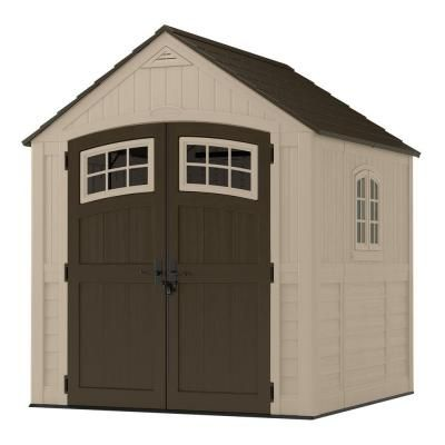 sutton 7 ft 3 in x 7 ft 45 in resin storage shed with side window brownstans
