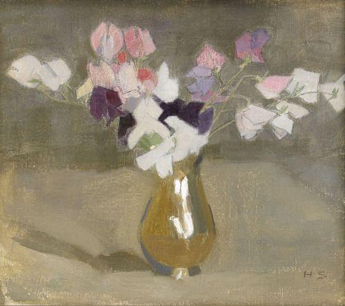 birdsong217: Helene Schjerfbeck (Finnish, 1862-1946)Sweet Peas,...