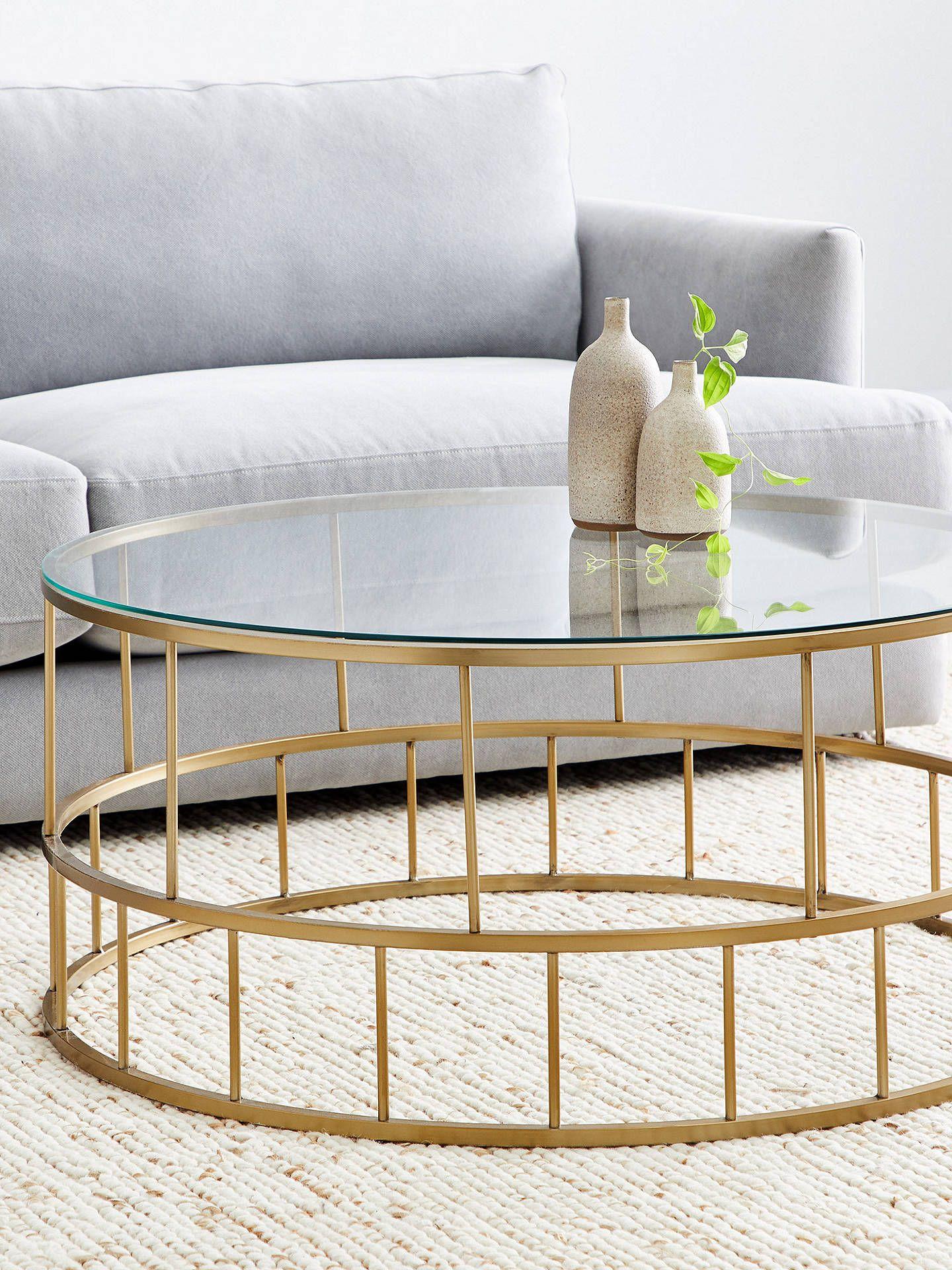 West Elm Deco Lattice Coffee Table Gold At John Lewis Partners