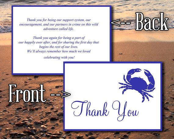 Beach Wedding Thank You Card Tent Microsoft Wedding Template - microsoft thank you card template
