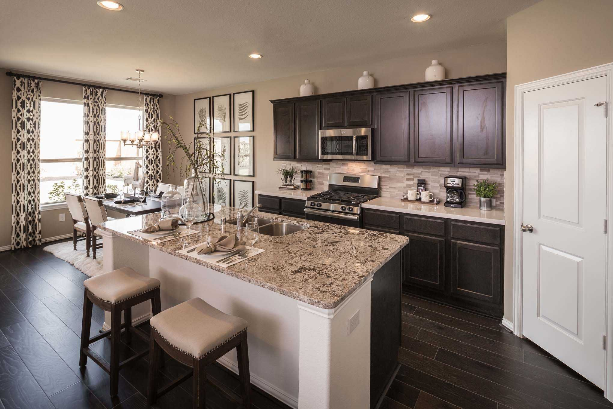 Kitchen Design Houston Impressive Highland Homes Richmond Model Home In Houston Texas Jordan Ranch Decorating Design