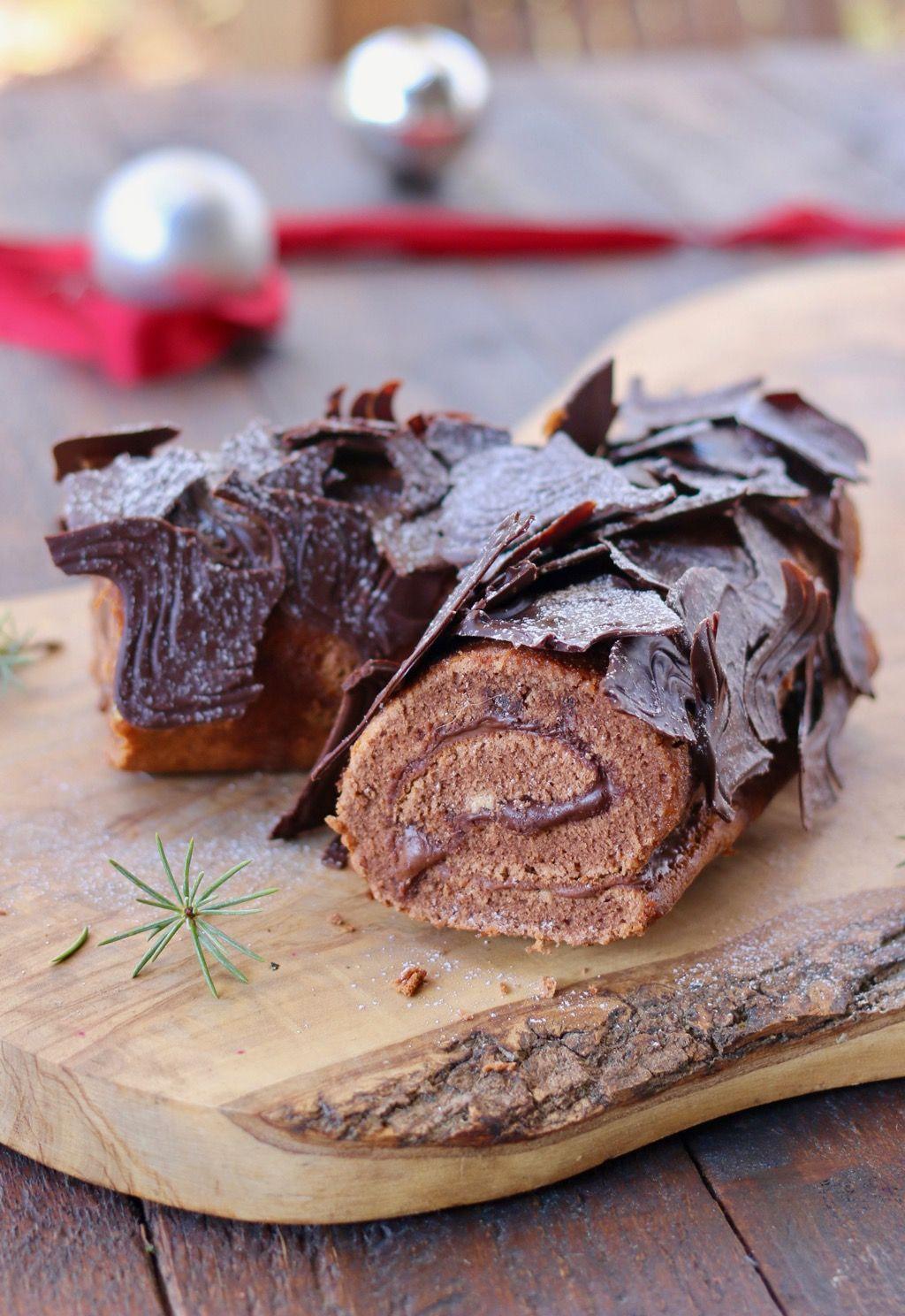 Ricetta Tronchetto Di Natale Alla Nutella.Tronchetto Di Natale Alla Nutella