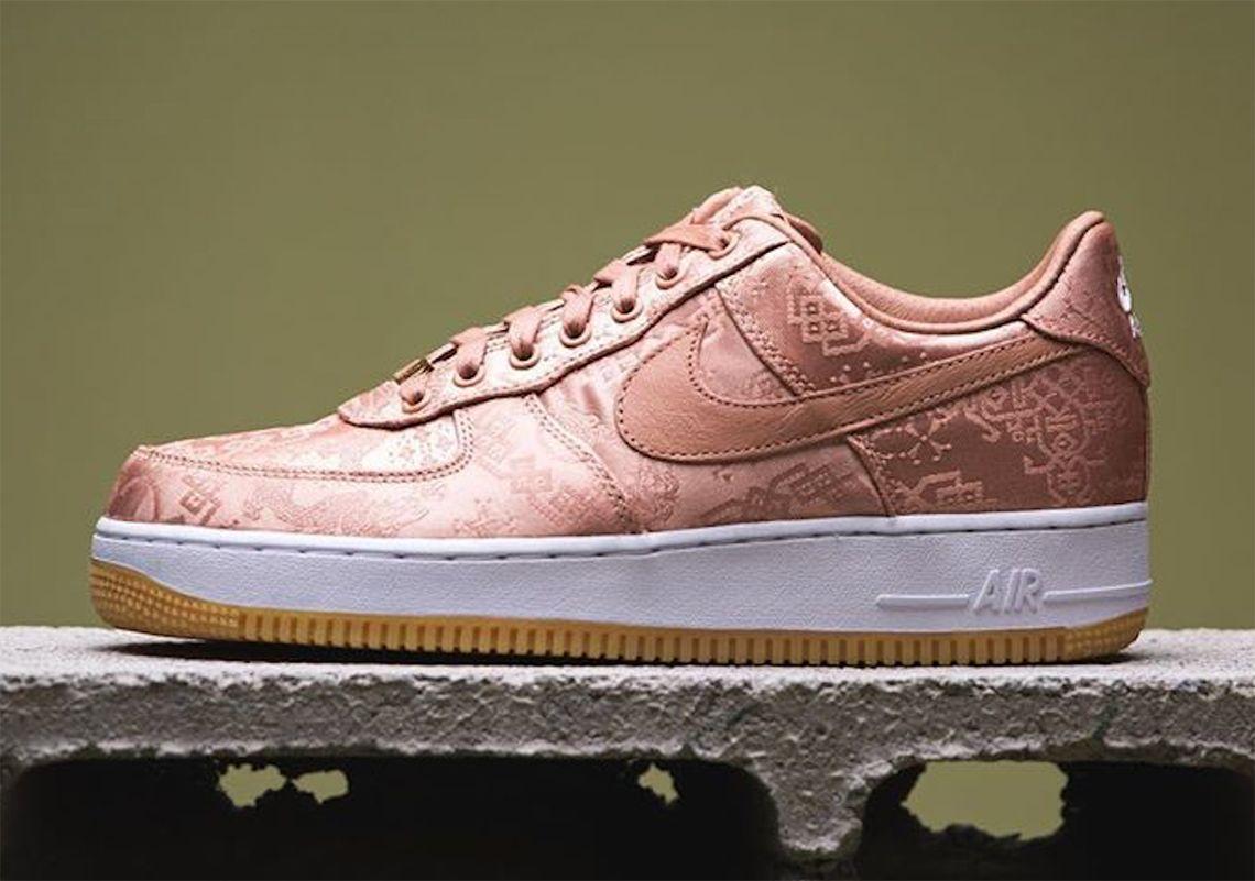 CLOT Nike Air Force 1 Low Rose Gold CJ5290 600 | Nike air