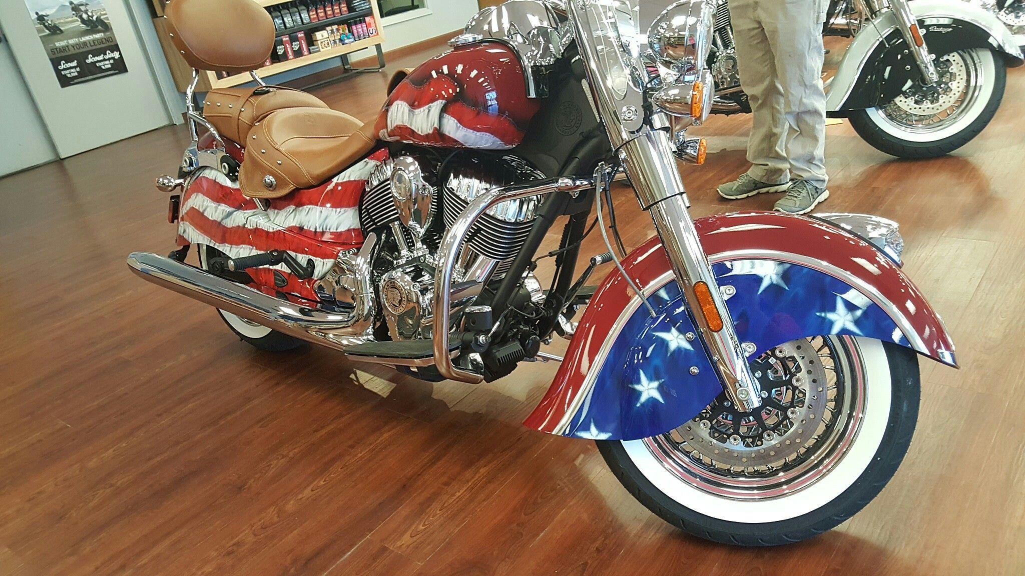 Flag Motorcycle Indian Car Paint Jobs Blue Car Biker Art