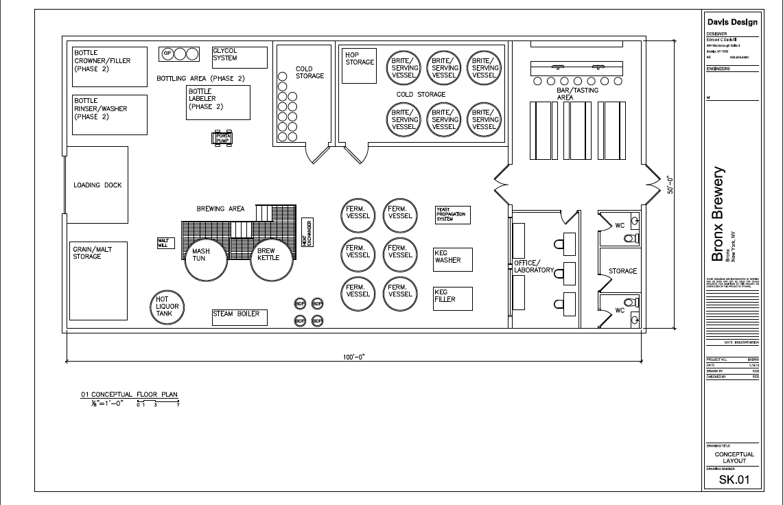 Boogie down brewery beer brewing beer production and for Brewery floor plan