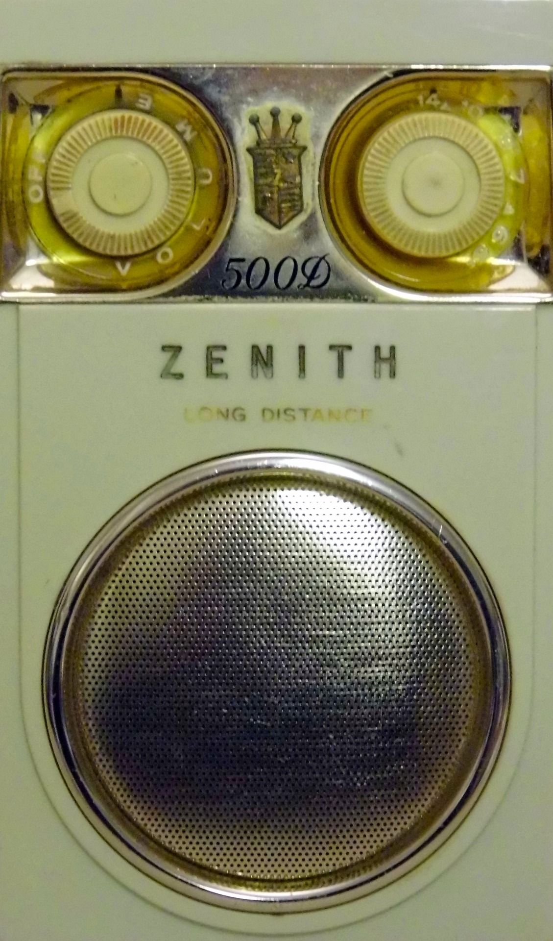 "magictransistor: "" Zenith Royal 500D Long Distance 8-Transistor AM Radio Receiver, c. 1959. """
