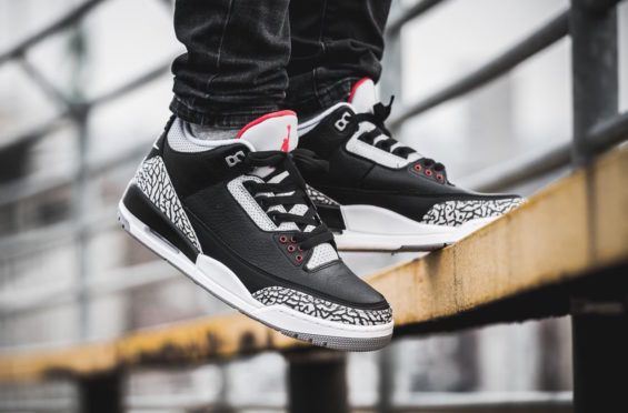 9e1c02a93976f3 Black Cement available now All Sizes ----- . Cop The Air Jordan 3 ...