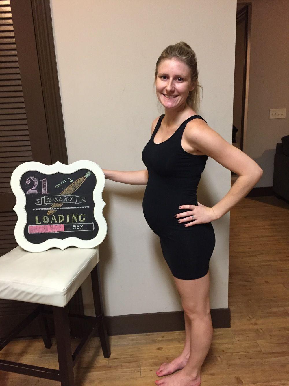 week 21 pregnant belly