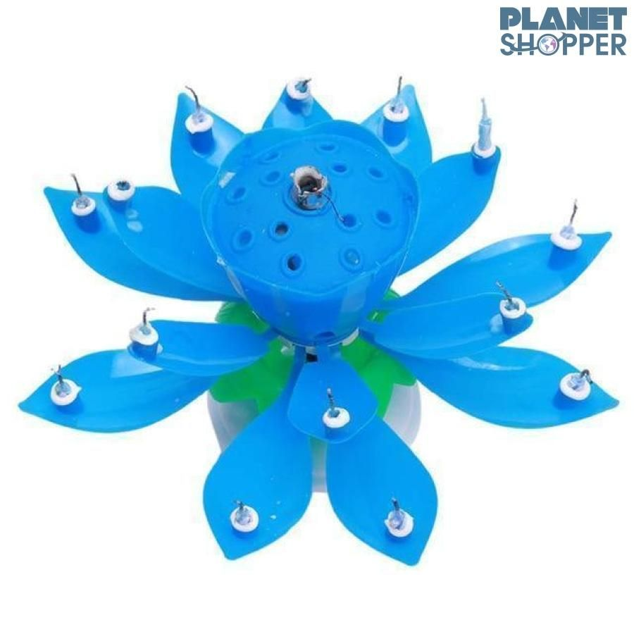 Blooming Musical Candle Blue | Flower candle, Lotus flower ...
