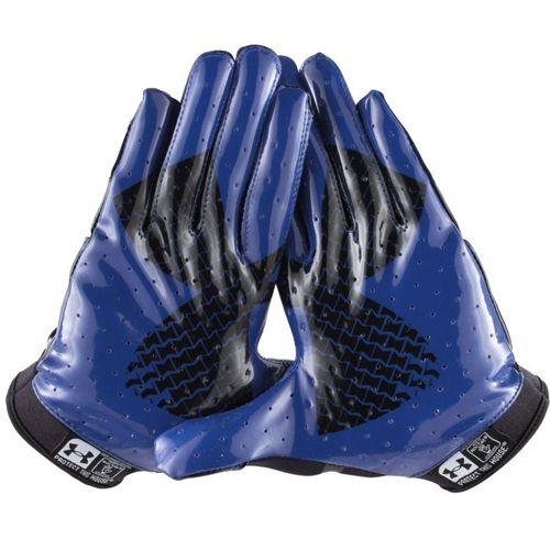 blue under armour football gloves