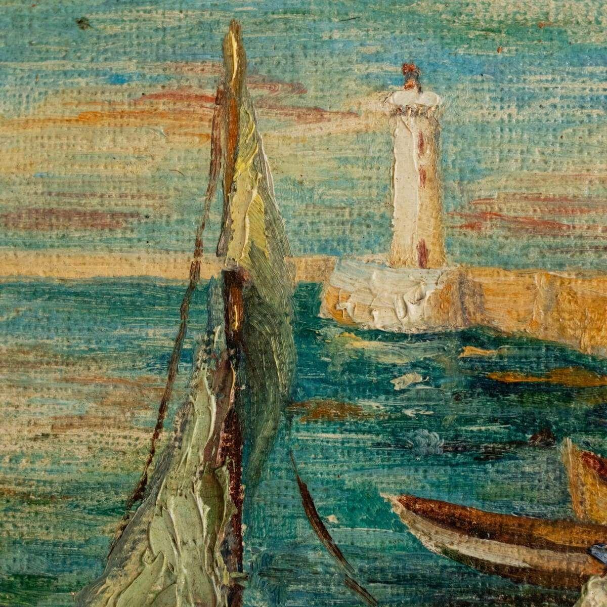 Saint Tropez dans la peinture à l'huile des années 1960   – Products