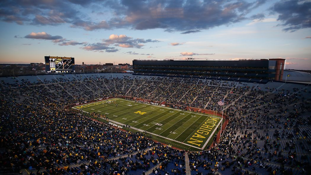 And the best b1g stadium is michigan football
