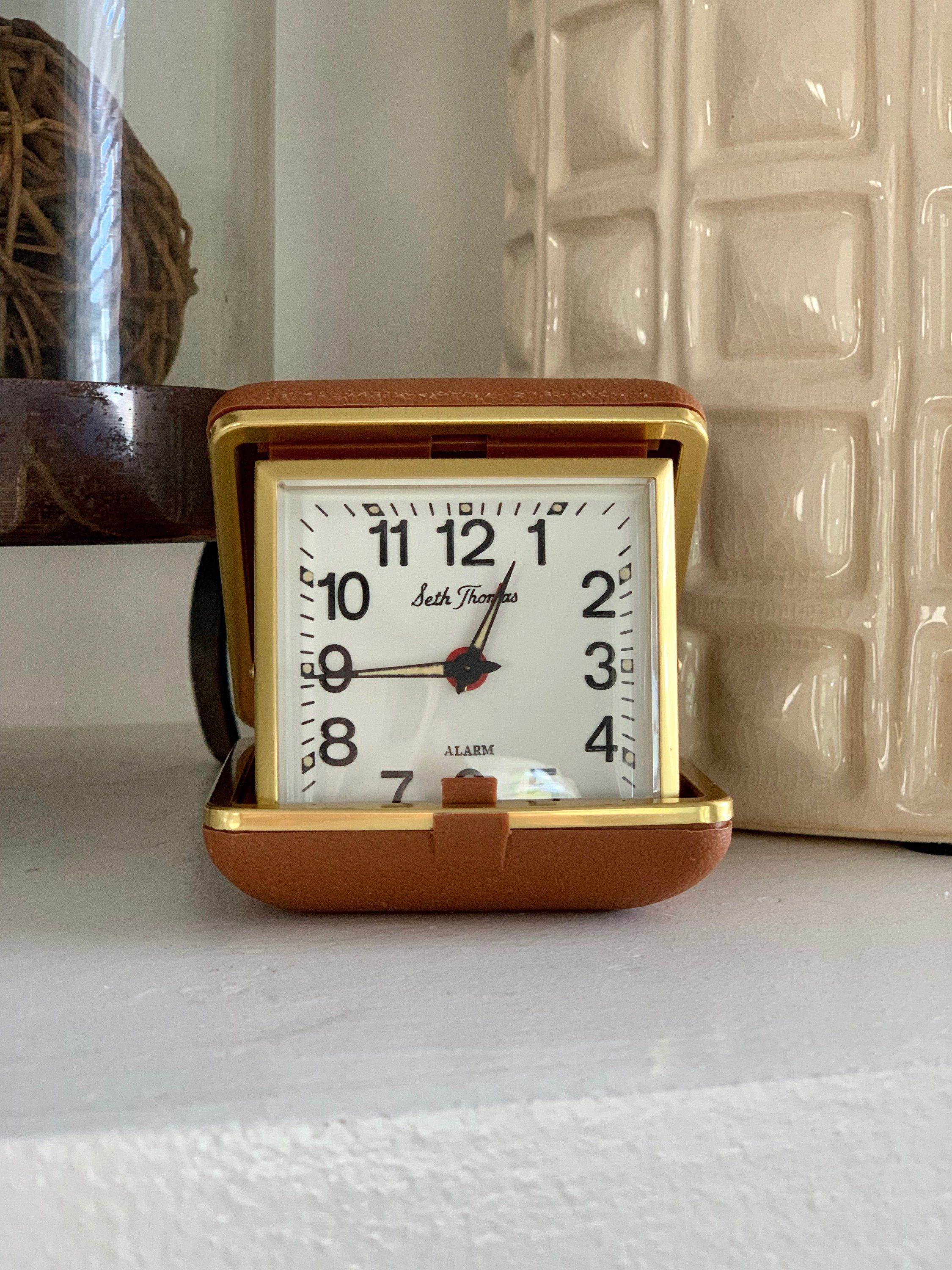 Seth Thomas Portable Alarm Clock, Vintage Pocket Alarm Clock ...