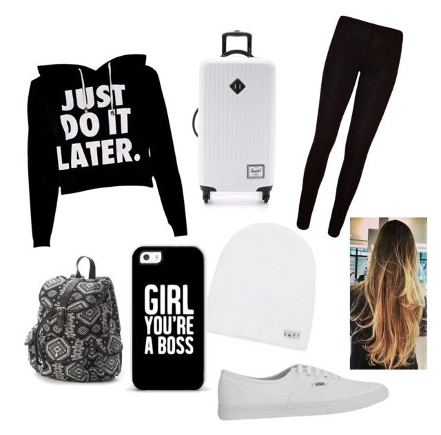 """""""""""On the plane!!"""" {Louis}"""" by fouraustralianidiots ❤ liked on Polyvore featuring Neff, WearAll, Vans, Herschel Supply Co., Mudd and Casetify"""