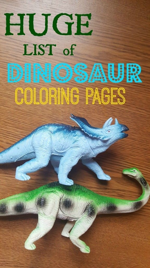 FREE Dinosaur Coloring Pages Printable Activities