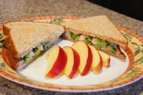 This Chicken Divan Sandwich is so tasty your kids won't even notice there's Broccoli!