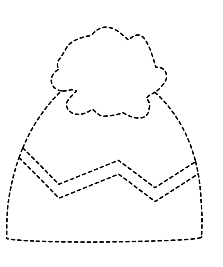 Winter clothes tracing worksheet for kids