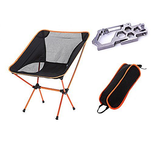 Ezyoutdoor Outdoor Ultralight Portable Folding Chairs With Carry Bag Heavy Duty Camping Folding Chair Orange Click Bag Heavy Folding Chair Camping Chairs