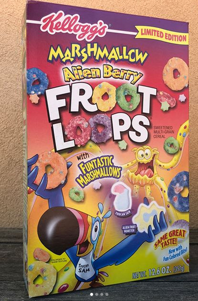 First Take A Look At This Alien Berry Froot Loops 2004 Types Of Cereal Food Pictures Breakfast Of Champions