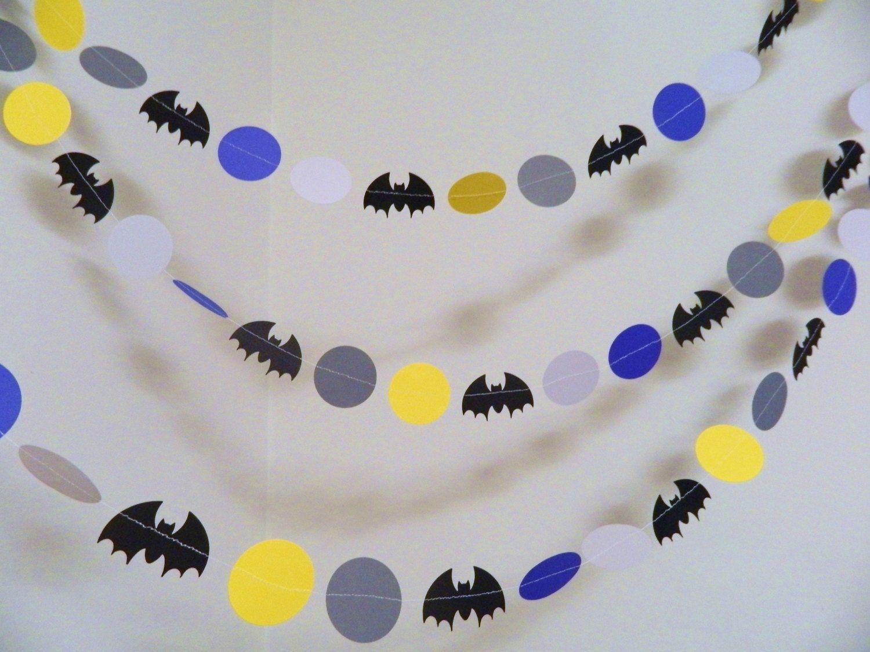Batman Birthday Decorations Superhero Garlands Batman Garland