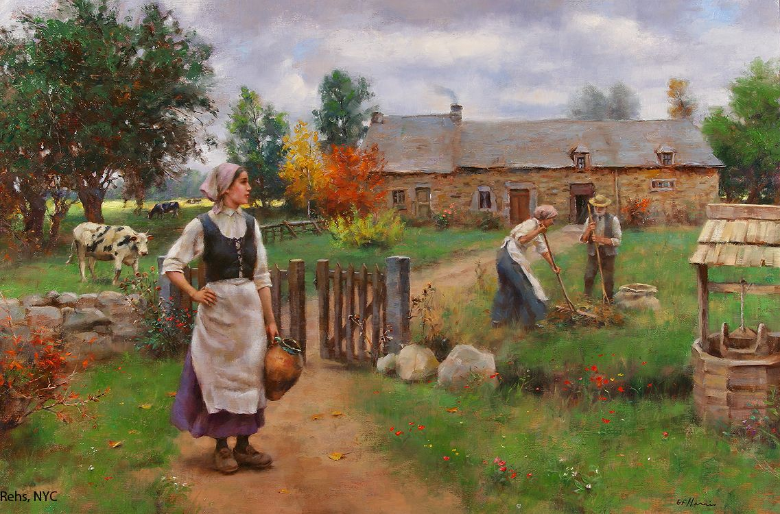 early fall by american painter gregory frank harris  early fall by american painter gregory frank harris 1953 rehs