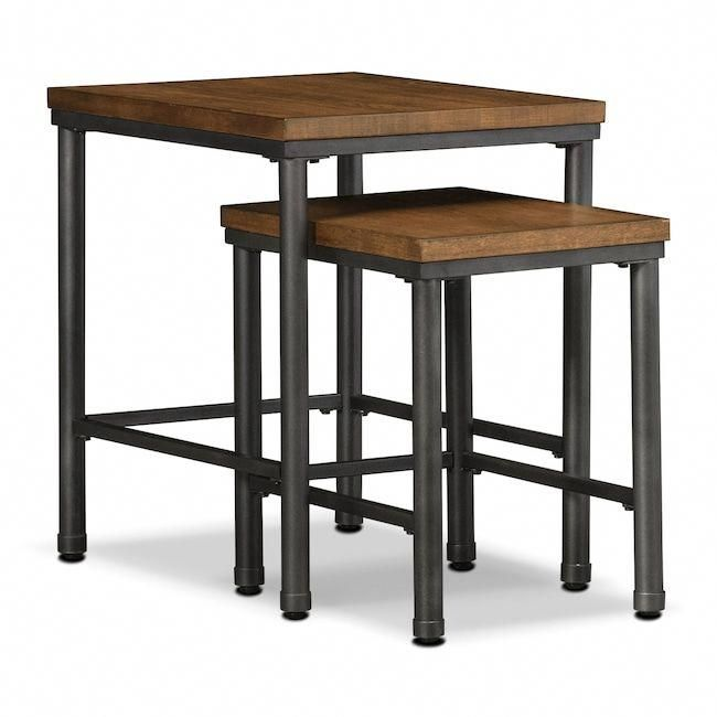 Accent and Occasional Furniture - Shipyard 2-Piece Nesting Tables