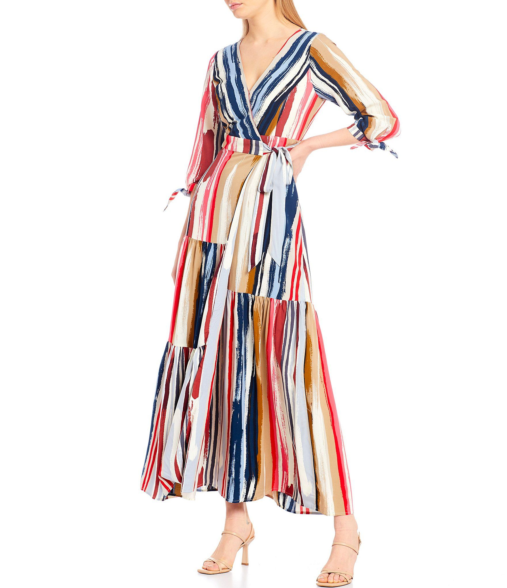 Skies Are Blue Paintbrush Wrap 3 4 Sleeve Maxi Dress Dillard S Maxi Dress With Sleeves Maxi Dress Formal Dresses For Teens [ 2040 x 1760 Pixel ]