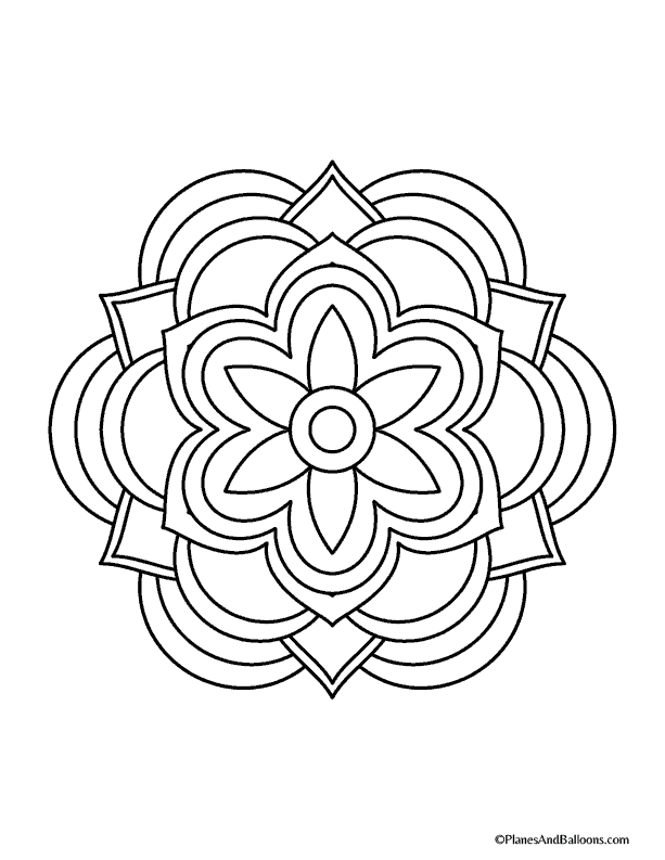 Easy Mandala Coloring Pages That You Ll Actually Want To Color Easy Mandala Drawing Mandala Coloring Pages Simple Mandala