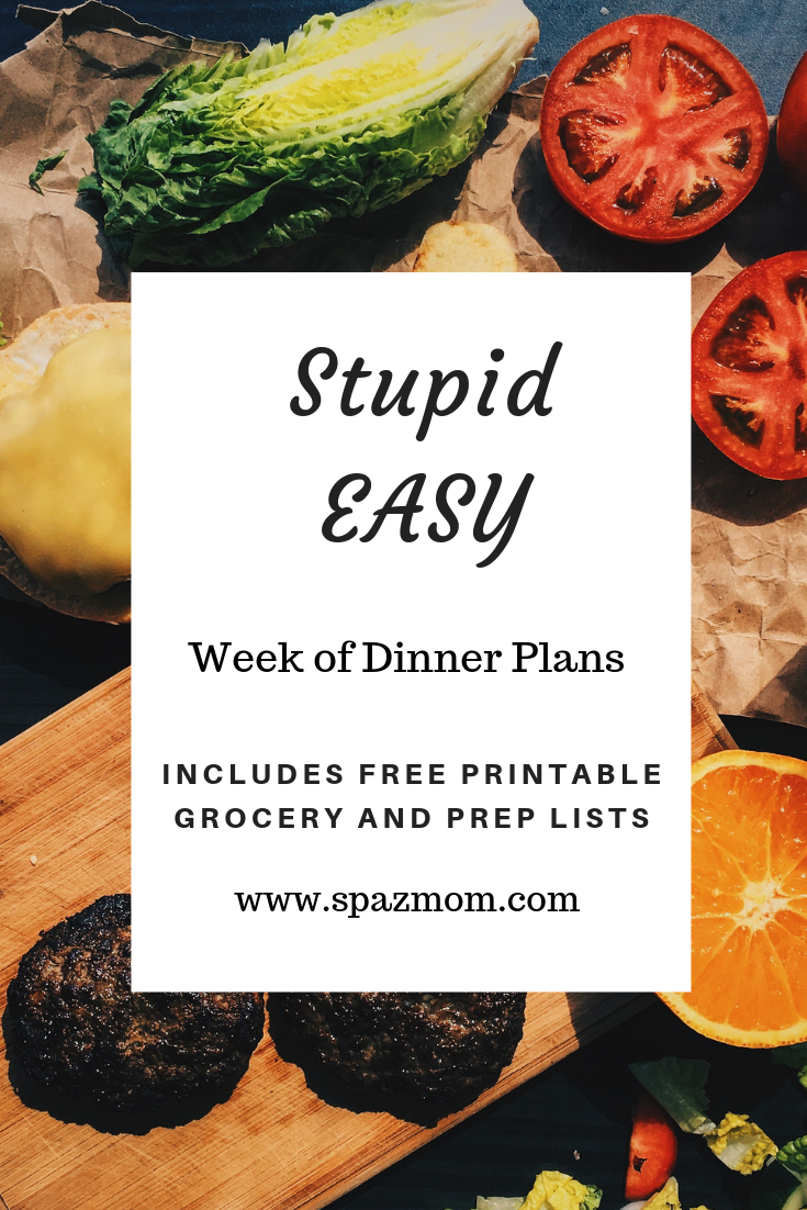1 Week of Dinners with Grocery List and Prep List Printable Do you struggle with the eternal question of what's for dinner ?  Click on the link.  I have done all the work for you.   Grocery list organized by section of the store and a Prep list to save time and help you stay on track.