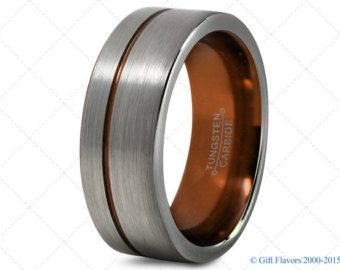 bf807de68684c Mens Tungsten Ring,Copper 8mm Men Tungsten Rings,Copper Wedding ...