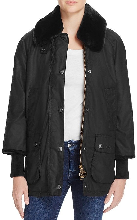 Barbour Snow Bedale Faux Fur Collar Raincoat - 100% Bloomingdale's Exclusive