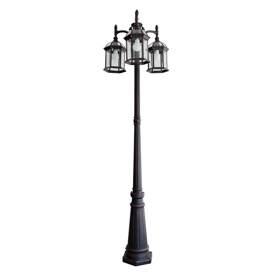 Portfolio 78 2 In H Rust Post Light At Lowes 129 Outdoor Lamp Posts Lamp Post Lights Outdoor Post Lights