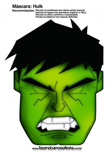 Mascara Do Hulk Lembrancinhas Para Meninos Hulk E Incrivel Hulk