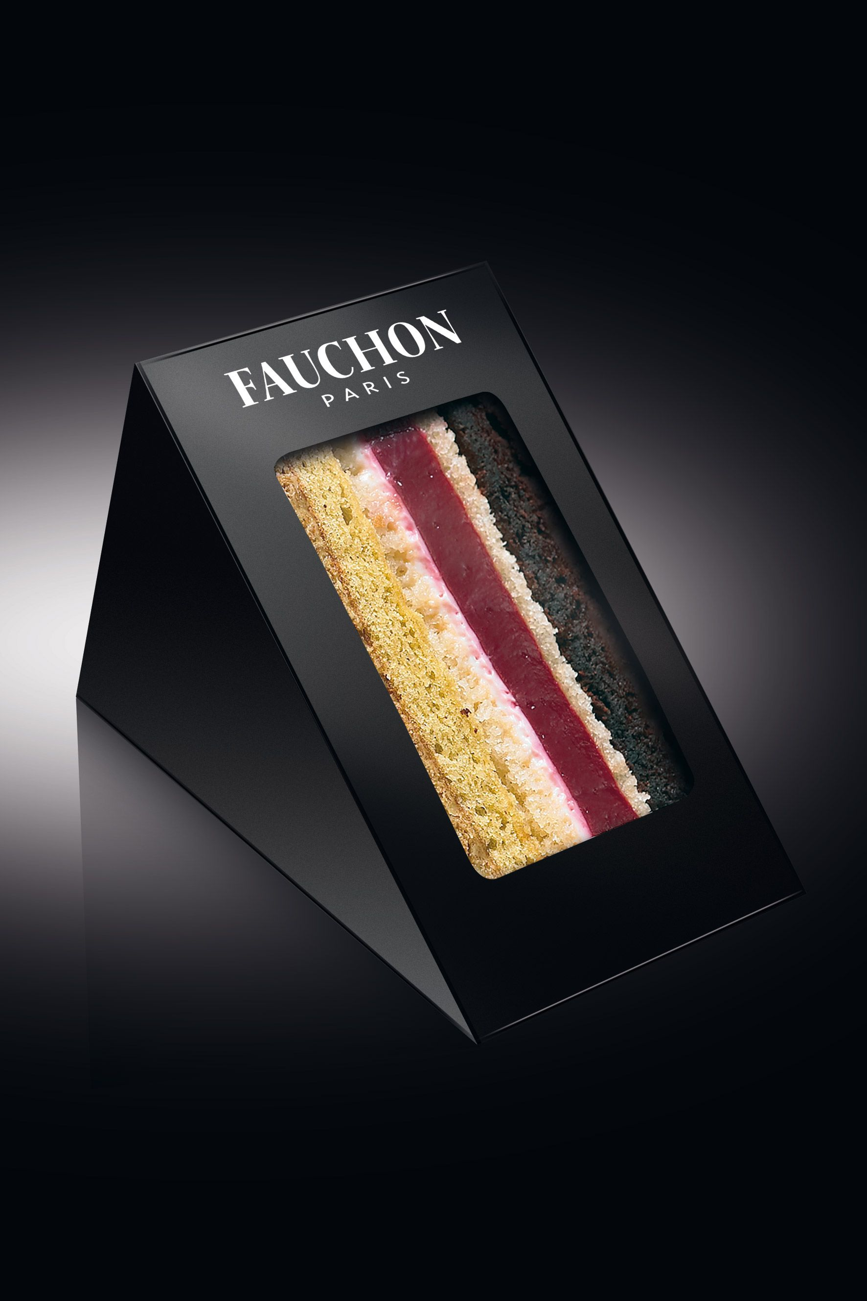 Cake Sandwich Packaging In Luxurious Black Perfect